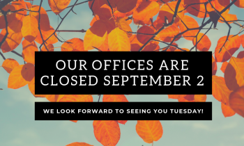 Closed for Labour Day (2 Sep)